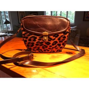 Patricia Nash Lia Oval Leopard Calf Hair Handbag